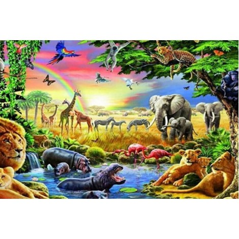 Forest Animals & Birds Painting