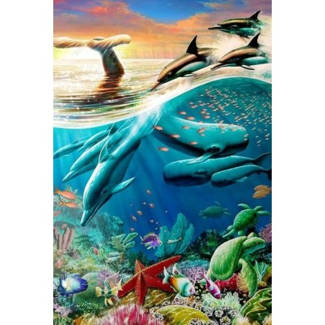 Killer Whales & Dolphins Diamond Painting