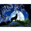 Full Moon & Howling Wolf