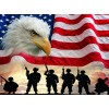 Soldiers, Eagle & American Flag