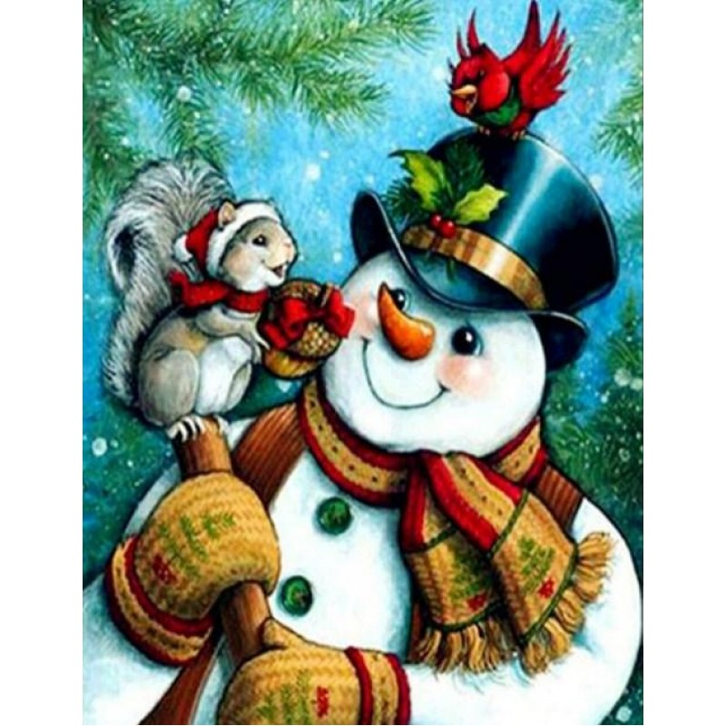 Snowman with Squirre...
