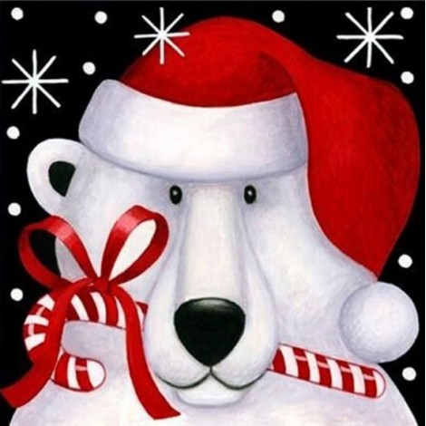 Snow Bear Christmas Card