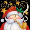 Smoker Santa Christmas Card