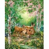 Mother Deer with Baby Diamond Painting