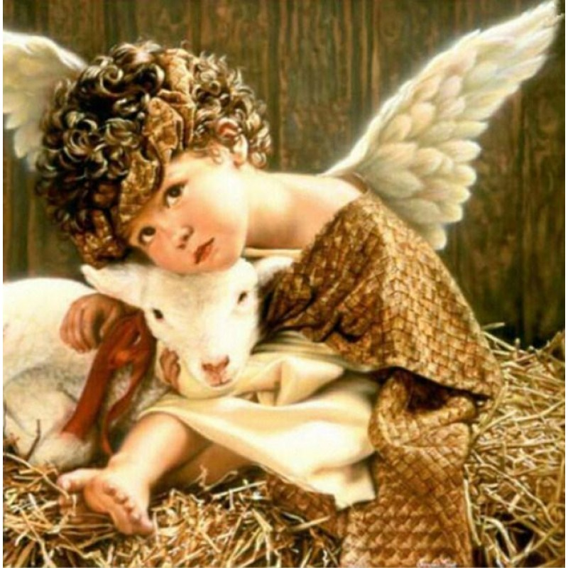 Angel Baby with Lamb