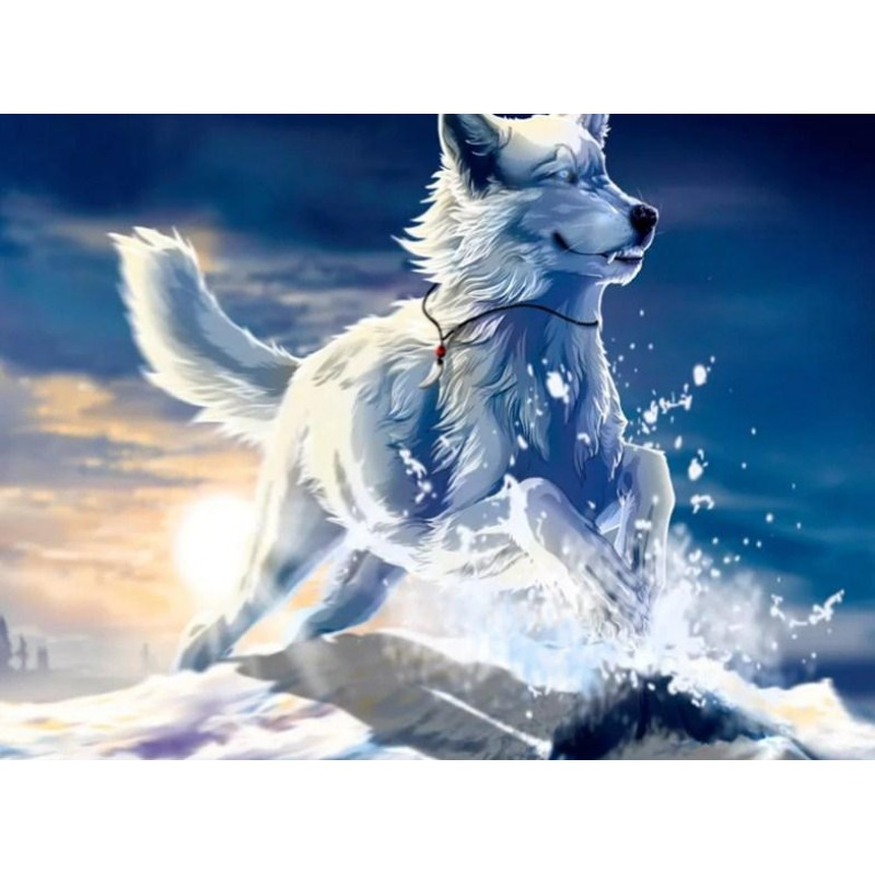 Adorable Snow Wolf -...