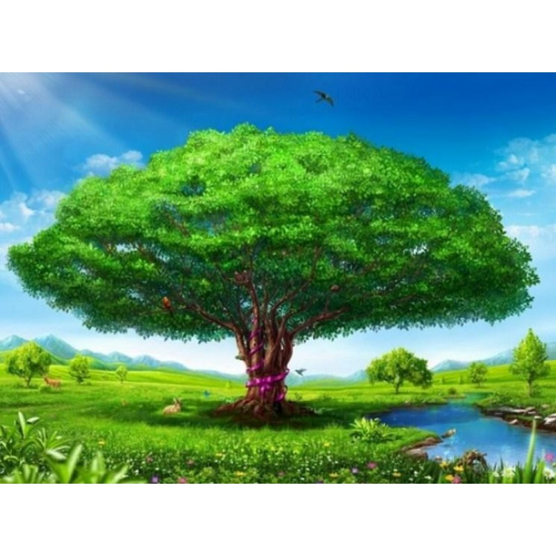 Giant Green Tree by ...