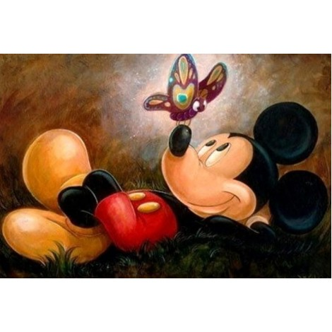 Mickey Mouse & Butterfly Diamond Painting
