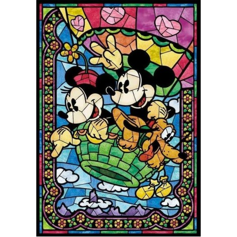 Mickey & Minnie Mouse with their Dog - DIY Painting