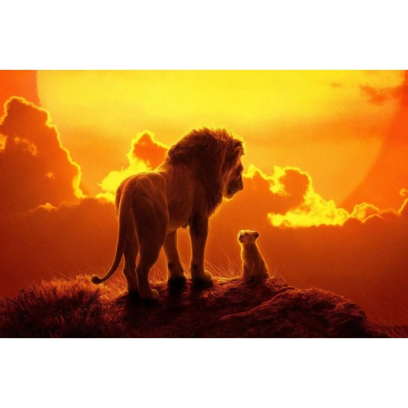 Lion & Cub on the To...