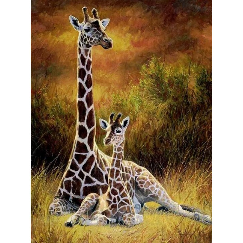 Giraffe Mother & Bab...