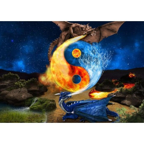 Fire Dragon & Water Dragon Fight