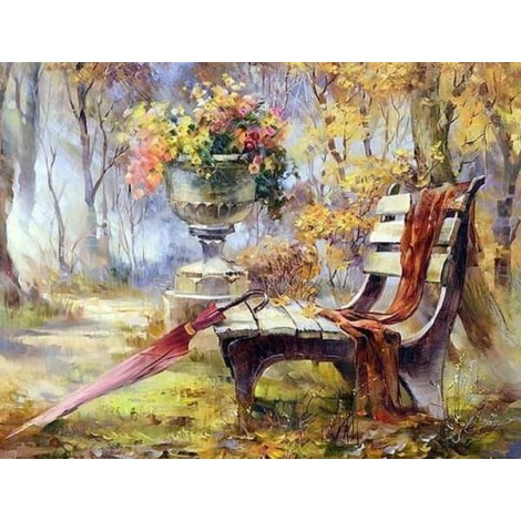 A Bench in Garden Painting Kit