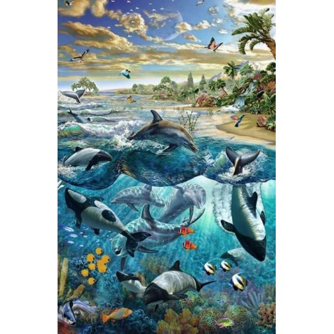 Dolphins & Whales - Paint by Diamonds