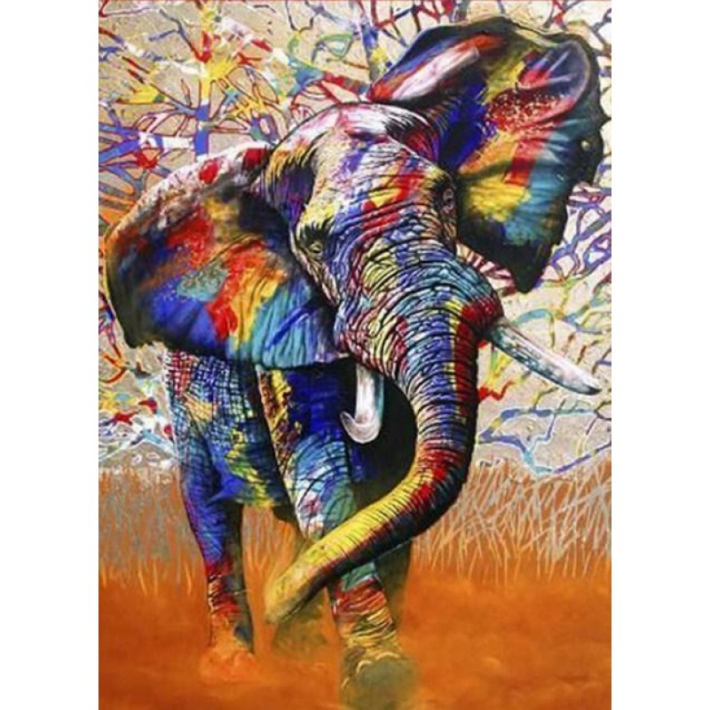 Colorful African Ele...