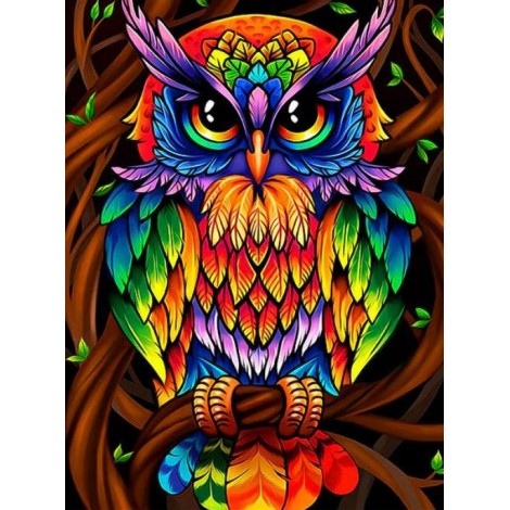 Colorful Owl - Paint by Diamonds