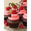 Chocolate Cup cakes with Berry Frosting