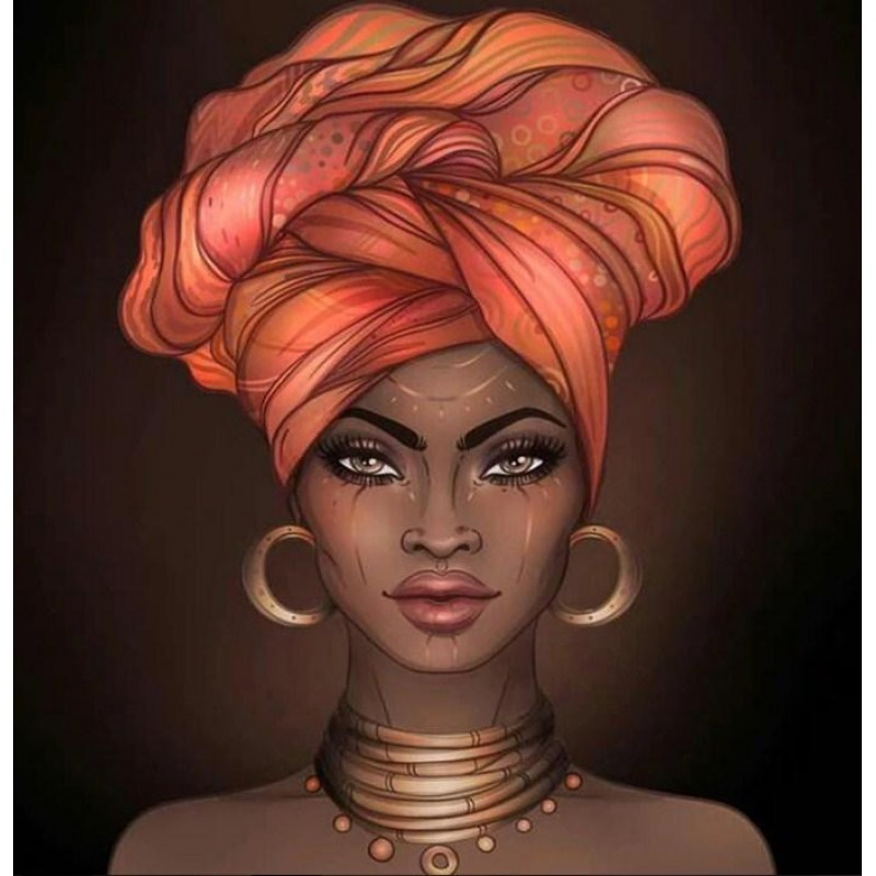 African Woman with H...