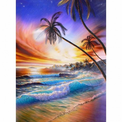 Beach Side Sunset View Diamond Painting