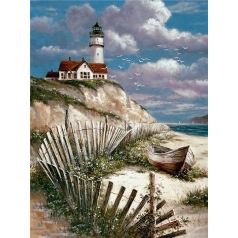 Beach Lighthouse DIY Diamond Painting